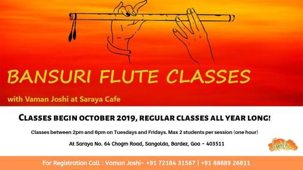 Bansuri Flute Classes with Vaman Joshi at Saraya Cafe