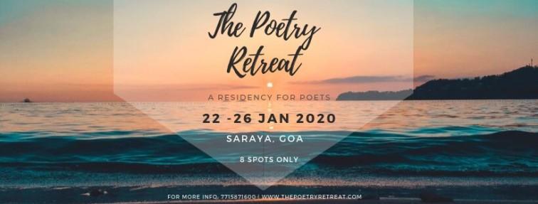 The Poetry Retreat 2020 at saraya, goa